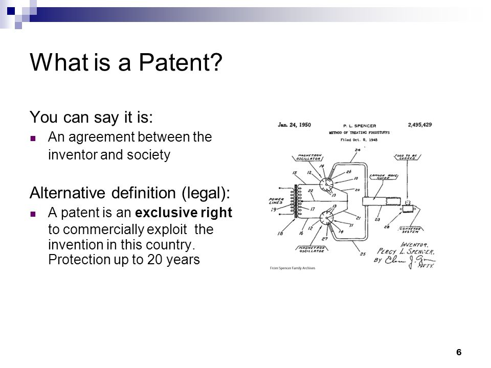 6 What is a Patent.