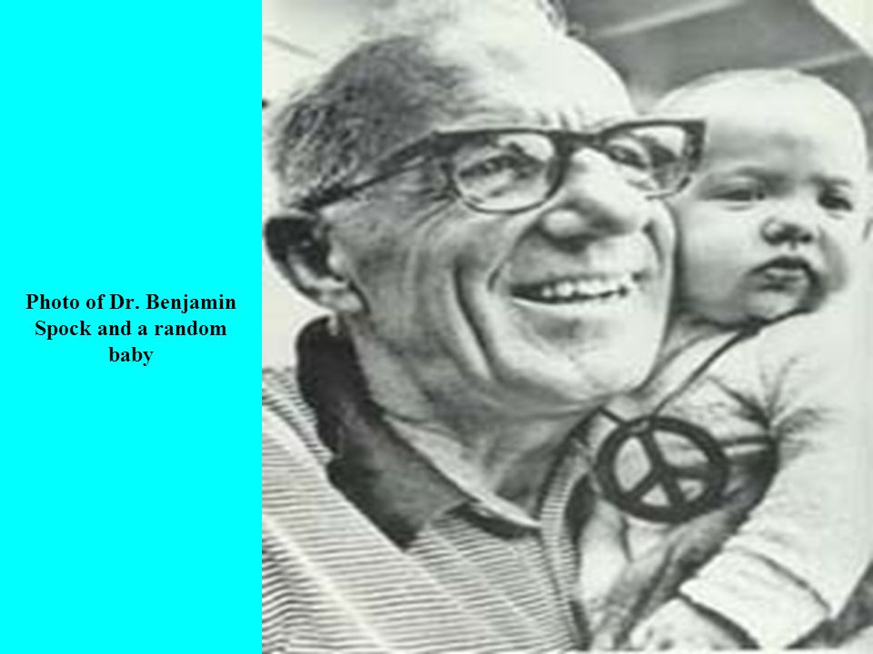 Photo of Dr. Benjamin Spock and a random baby
