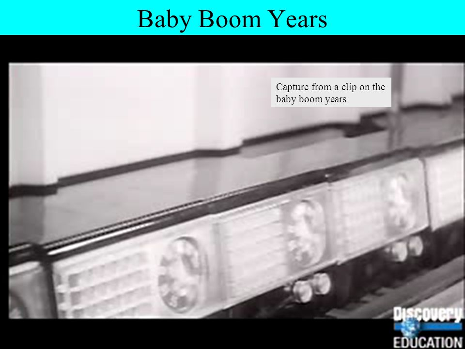 Baby Boom Years Capture from a clip on the baby boom years