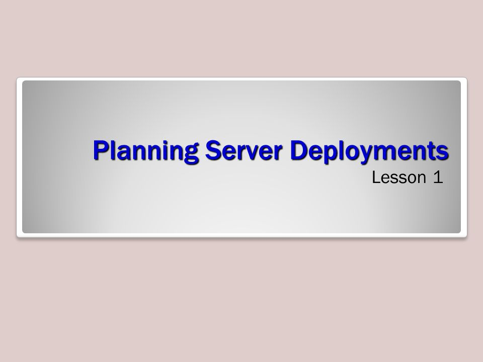 Skills Matrix Technology SkillObjective DomainObjective # Installing Microsoft Assessment and Planning Solution Accelerator Plan server installations and upgrades 1.1 Understanding the Deployment Process Plan for automated server deployment 1.2