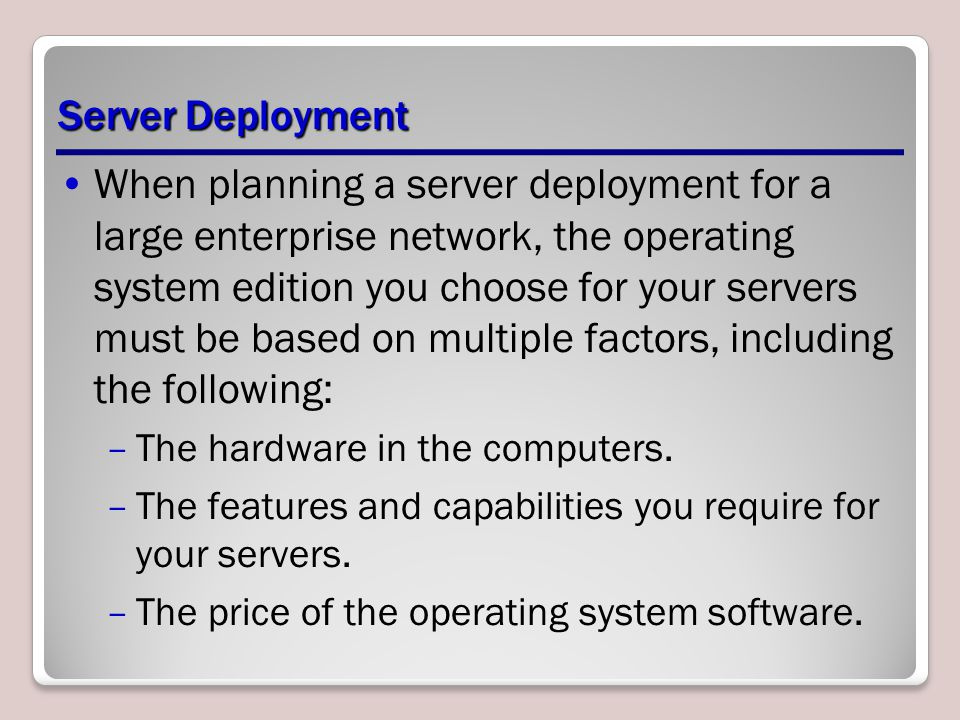 The Windows Deployment Services Console