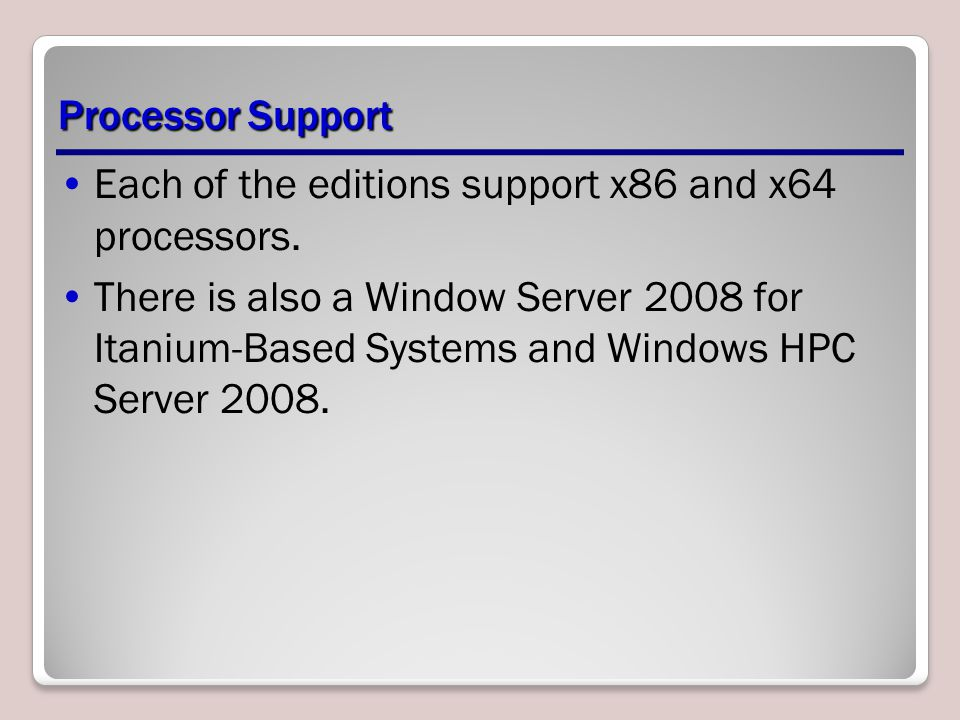 Summary When planning a server deployment for a large enterprise network, the operating system edition you choose for your servers must be based on multiple factors including the hardware in the computers, the features and capabilities you require for your servers, and the price of the operating system software.