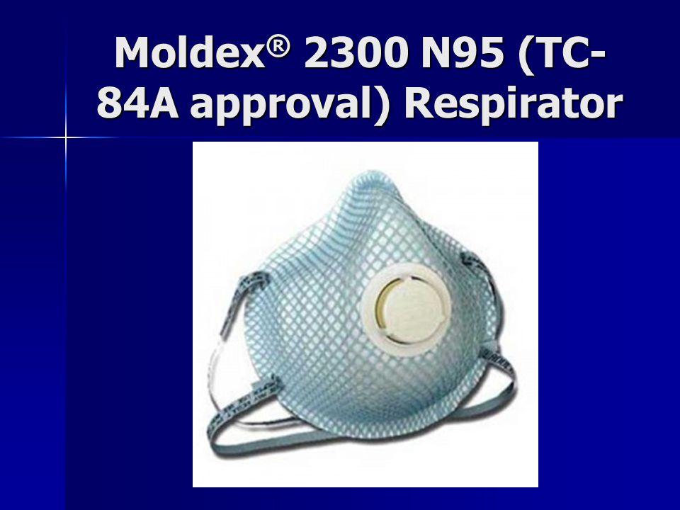 Moldex ® 2300 N95 (TC- 84A approval) Respirator
