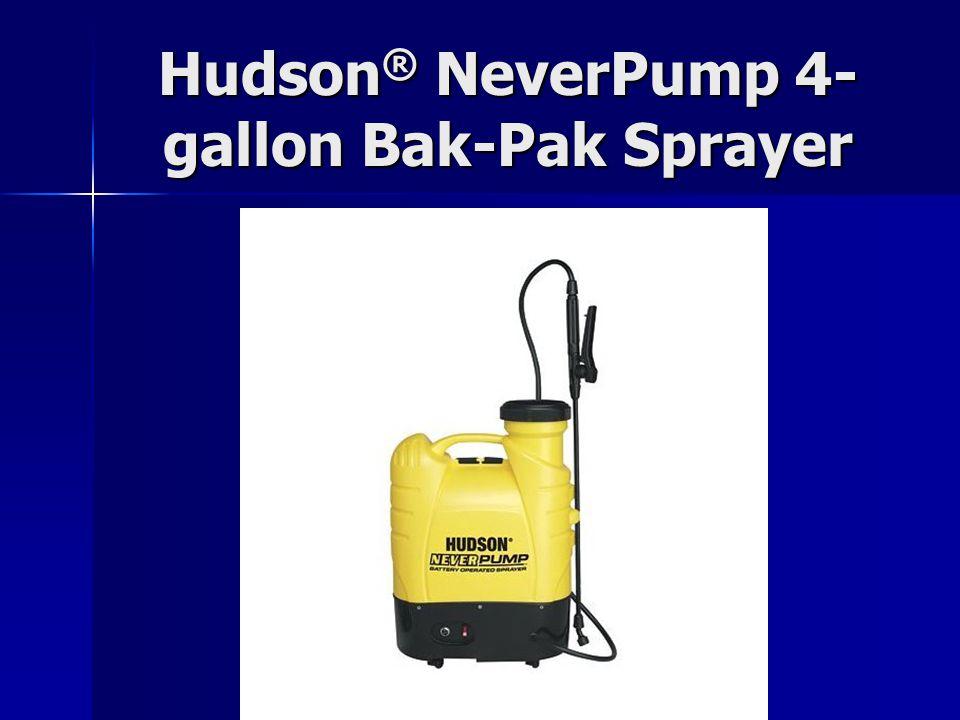 Hudson ® NeverPump 4- gallon Bak-Pak Sprayer