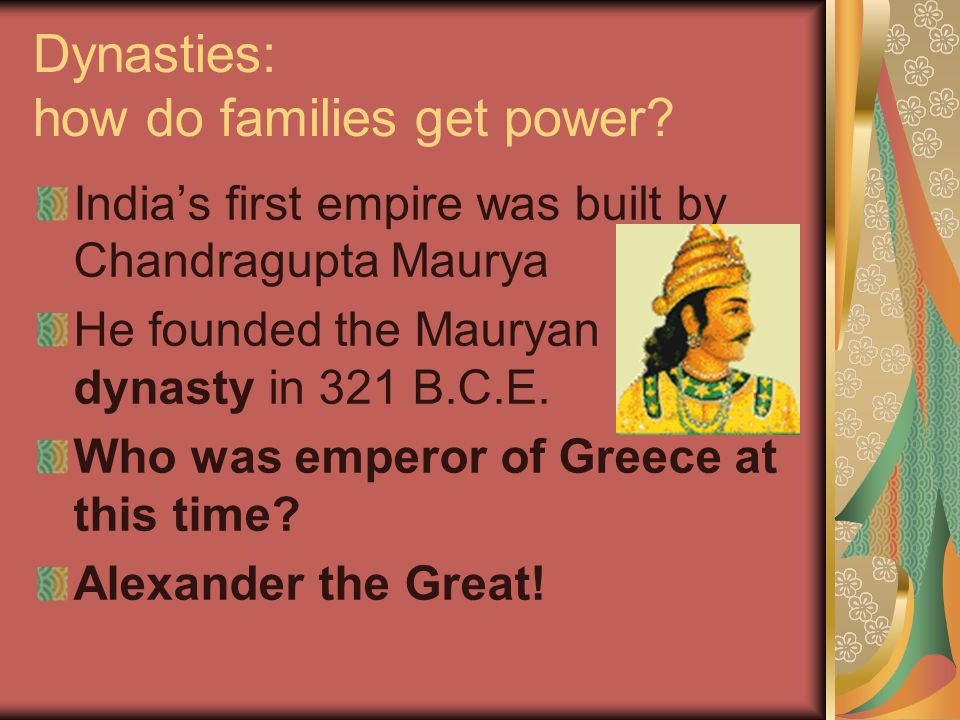 Dynasties: how do families get power.