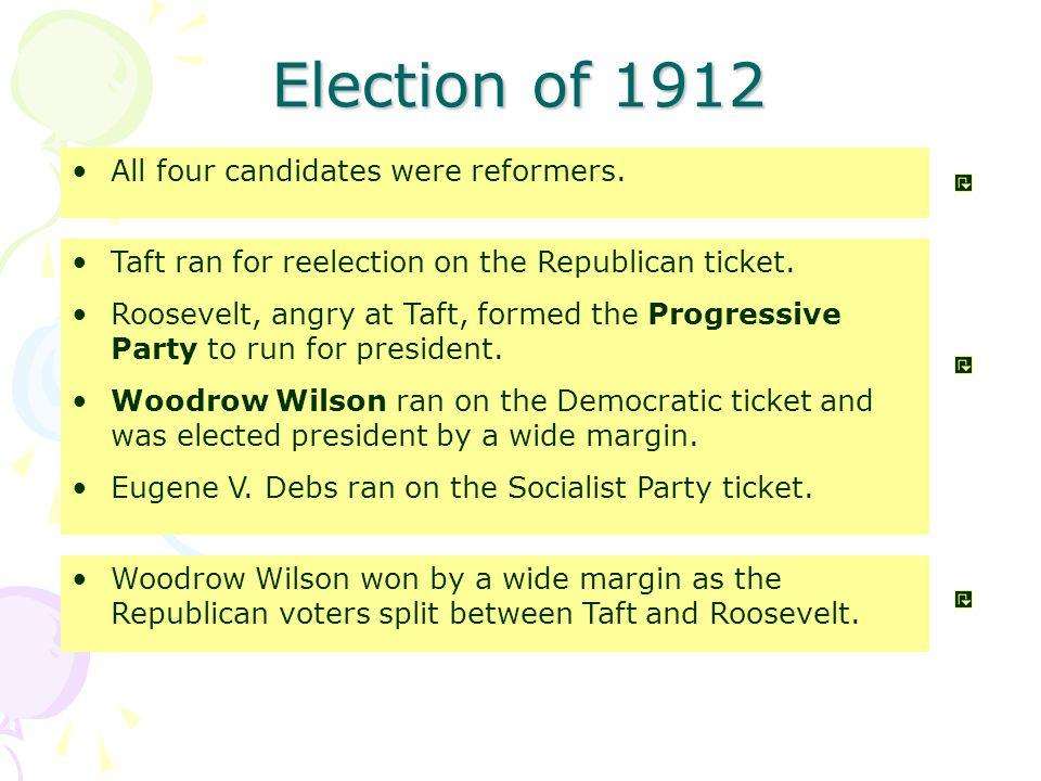 Taft ran for reelection on the Republican ticket.