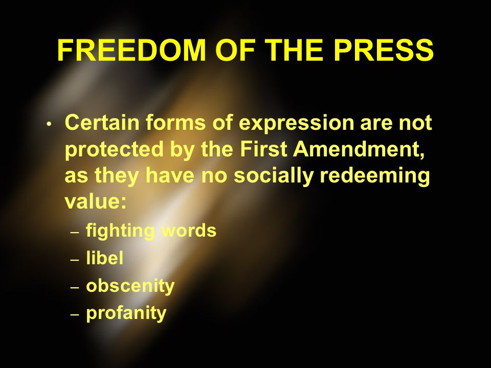 """FREEDOM OF THE PRESS Can a state prevent the publication of a newspaper because a previous edition of the newspaper published """"false and scandalous"""" i"""
