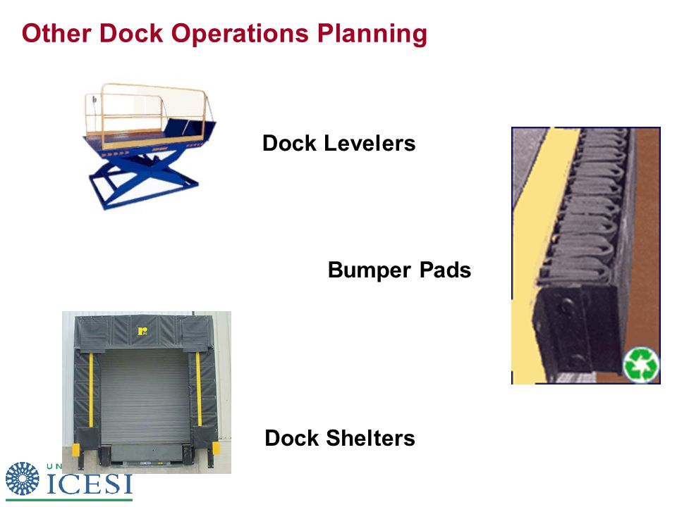 Other Dock Operations Planning Dock Levelers Bumper Pads Dock Shelters