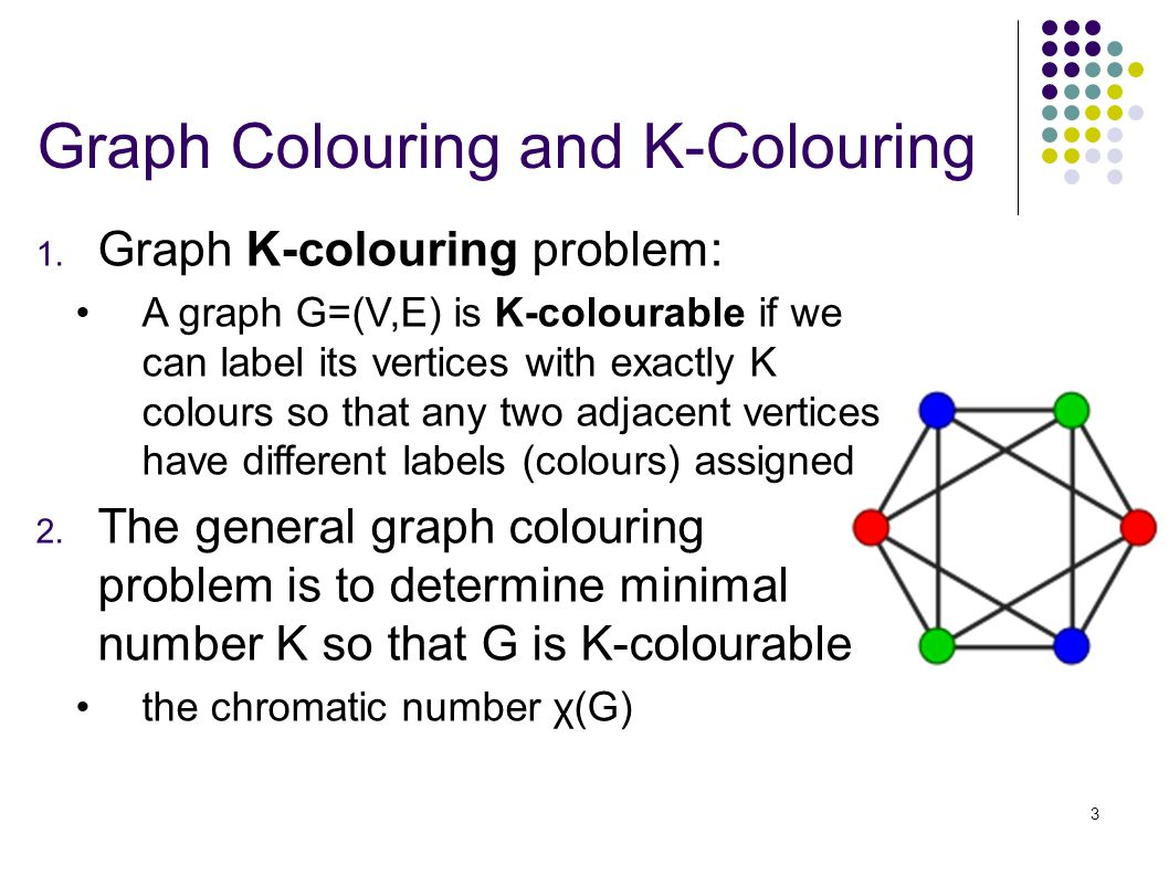 3 Graph Colouring and K-Colouring 1.