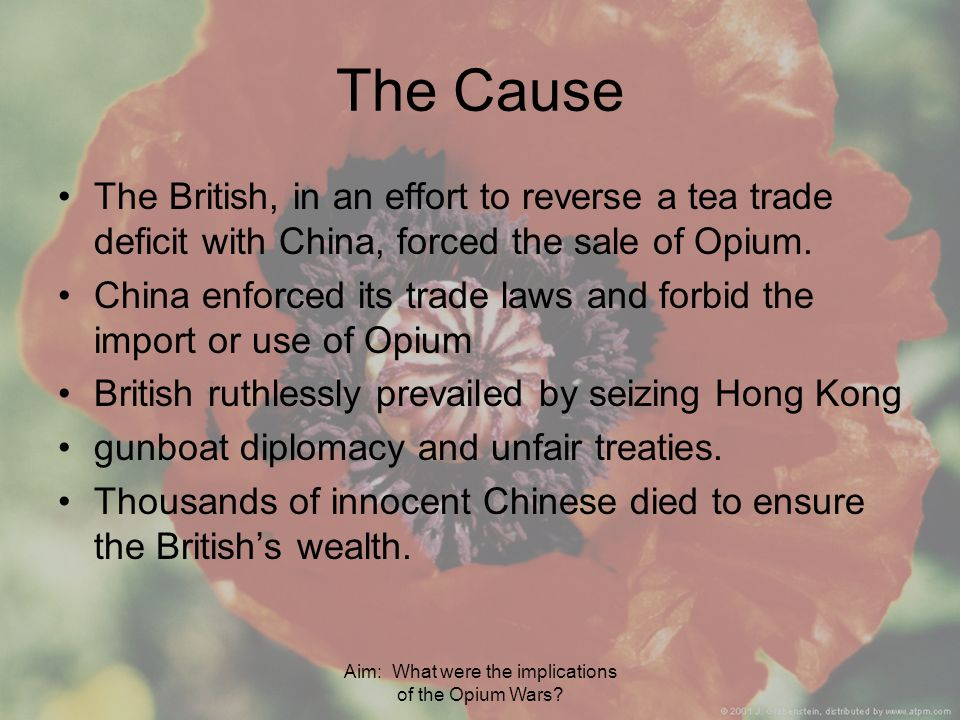 Aim: What were the implications of the Opium Wars.