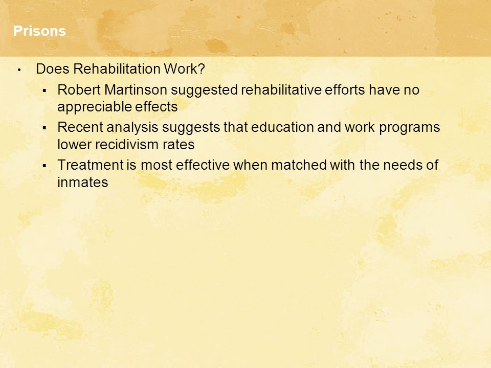 Prisons Does Rehabilitation Work.