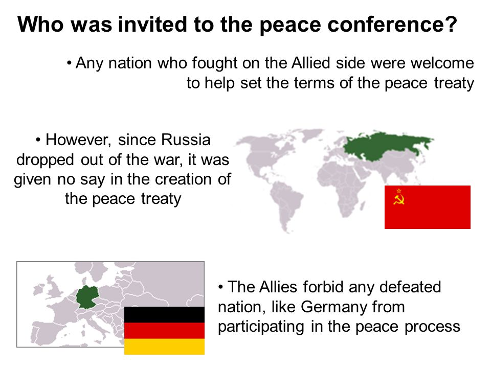 Who was invited to the peace conference.