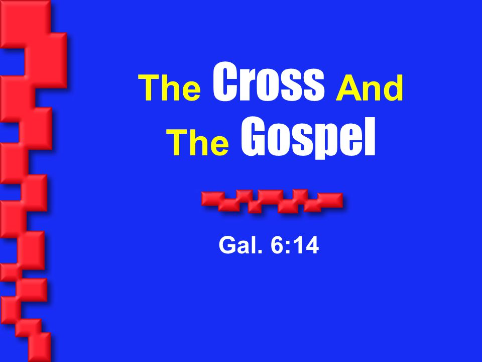 22 IV.The Cross Is The Grounds For All Peace Col.