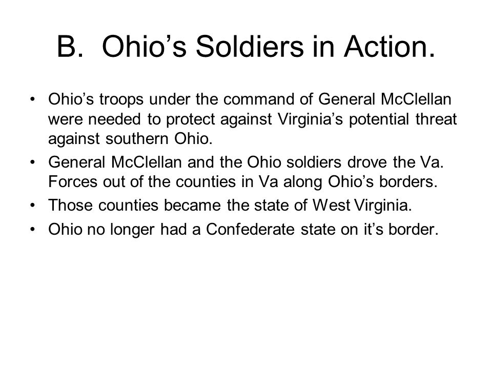 B. Ohio's Soldiers in Action.