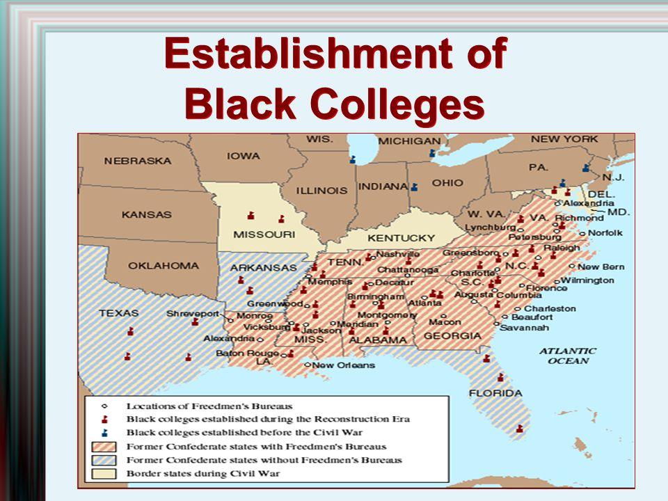 Establishment of Black Colleges