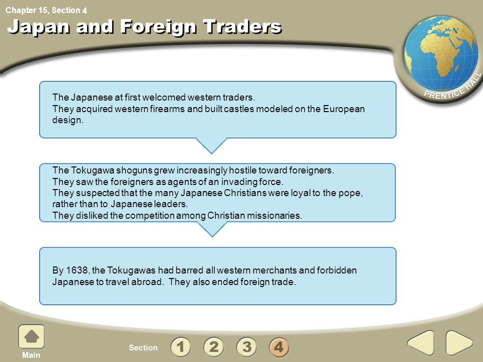 Chapter 15, Section Section 4 Assessment What policy did the Qing adopt regarding foreign trade.