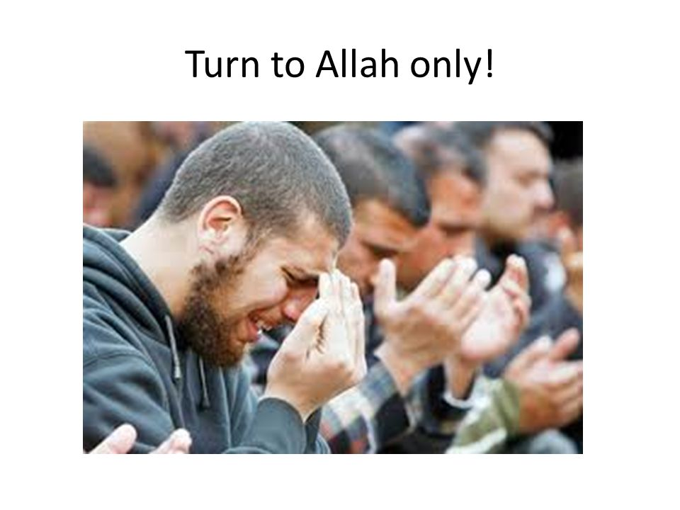 Turn to Allah only!