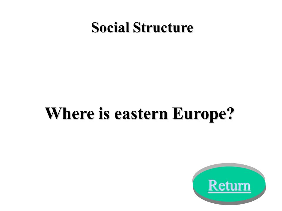 Social Structure Where is eastern Europe? Return