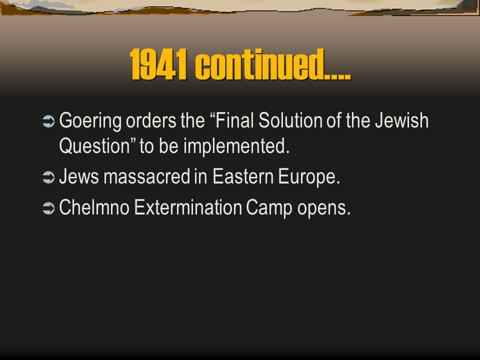 1941  Friendly relations with Jews prohibited.