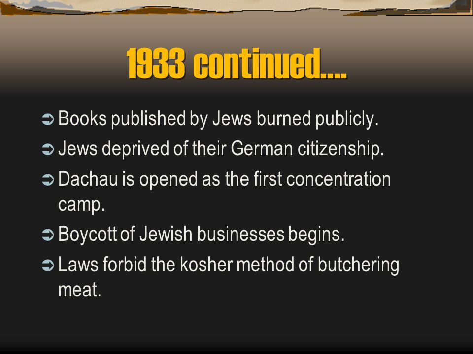 1941 continued…. Goering orders the Final Solution of the Jewish Question to be implemented.
