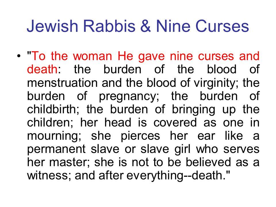 Jewish Rabbis & Nine Curses