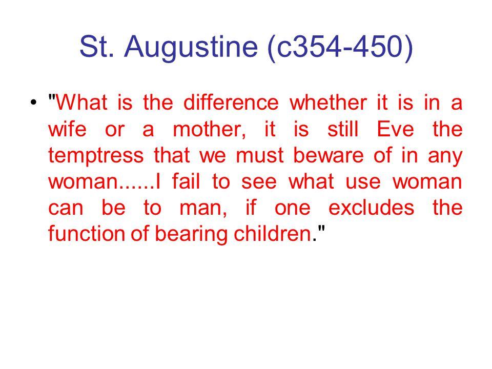 St. Augustine (c354-450)