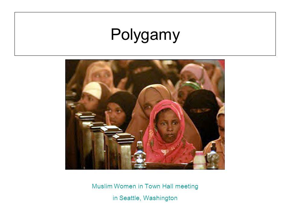 Polygamy Muslim Women in Town Hall meeting in Seattle, Washington