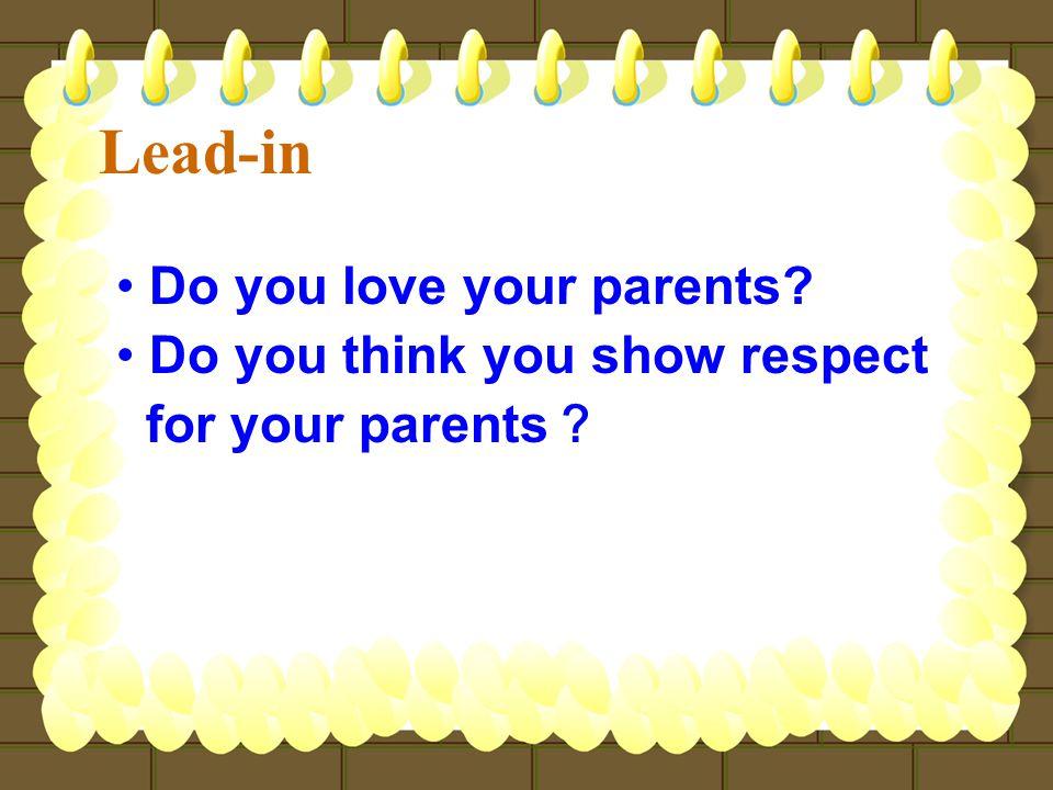 Do you sometimes quarrel with your parents.