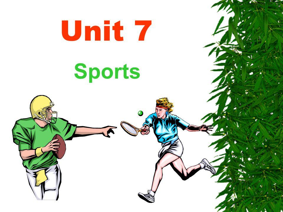 Unit 7 Sports