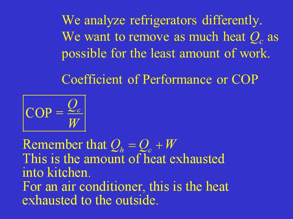 We analyze refrigerators differently.
