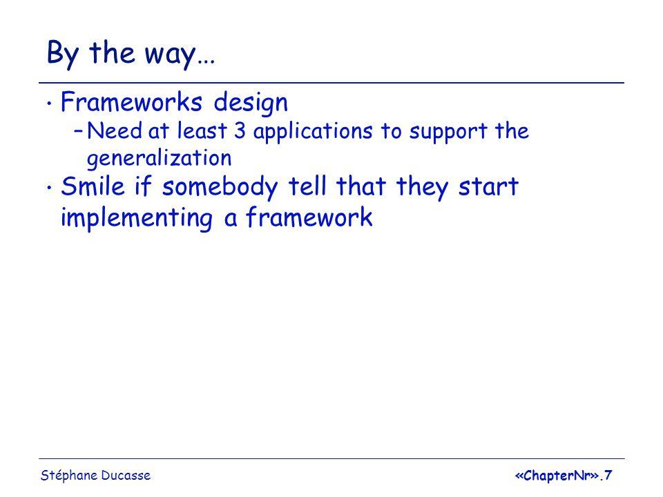 Stéphane Ducasse«ChapterNr».8 RoadMap The Basic Idea behind Frameworks Subclassing vs SubTyping Design Heuristics Design Symptoms