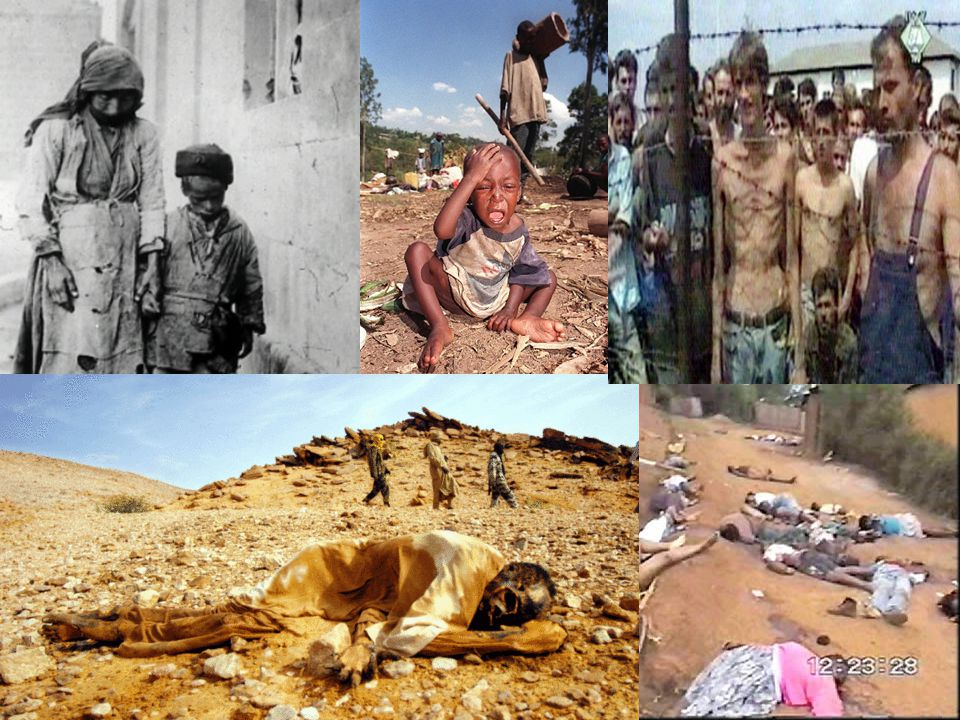 Stage 8--Denial Dig up of mass graves, burn bodies, cover up evidence, intimidate witnesses Avoid: Arrest and prosecute