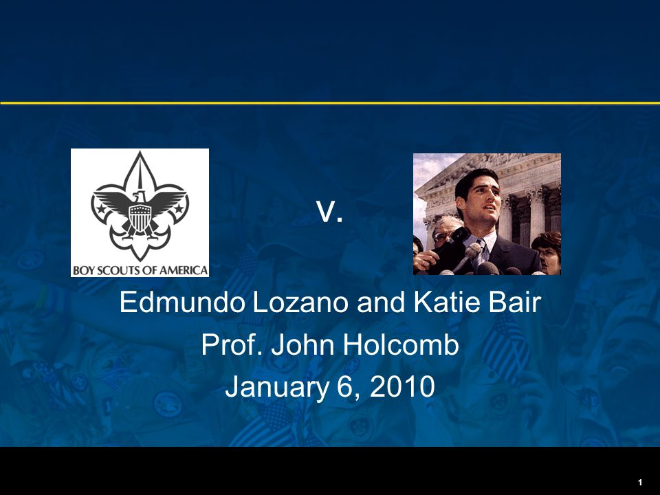 v. Edmundo Lozano and Katie Bair Prof. John Holcomb January 6, 2010 1