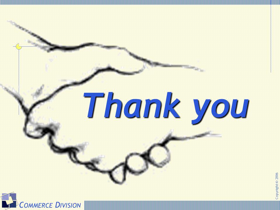Copyright © 2006 Thank you Thank you