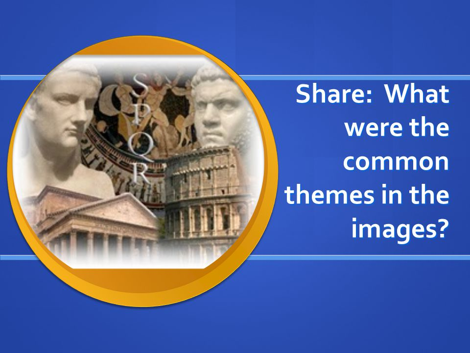 Share: What were the common themes in the images?