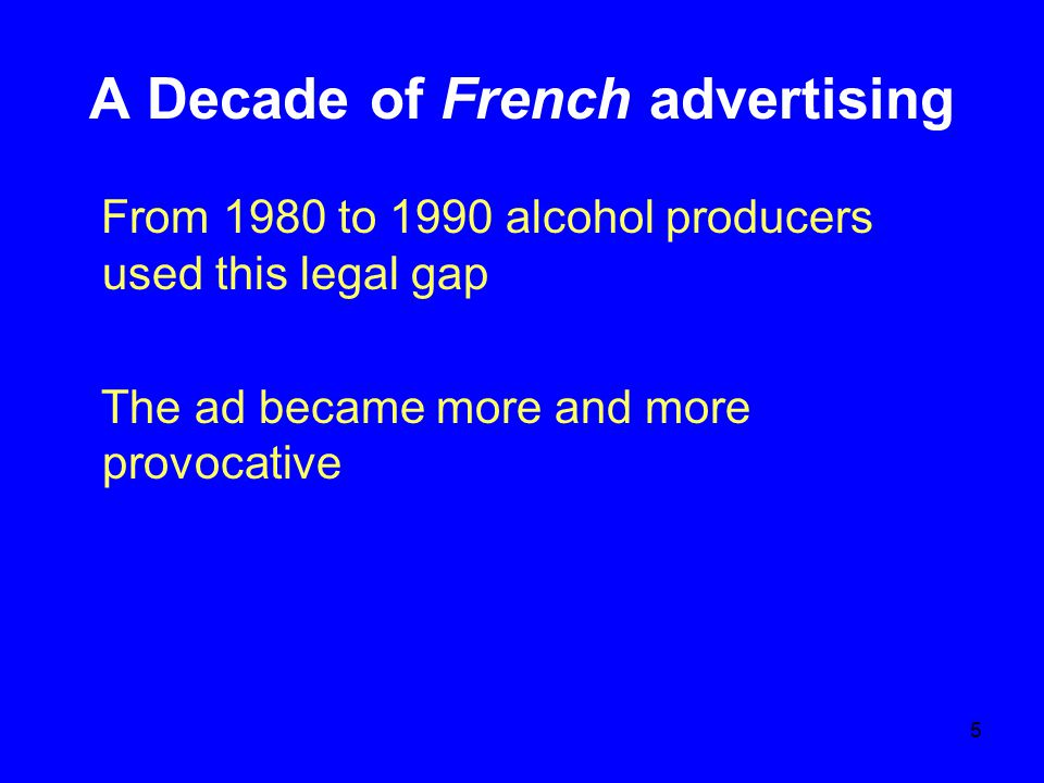 6 Sexe, alcohol and French life Alcohol and sexeAlcohol and sport