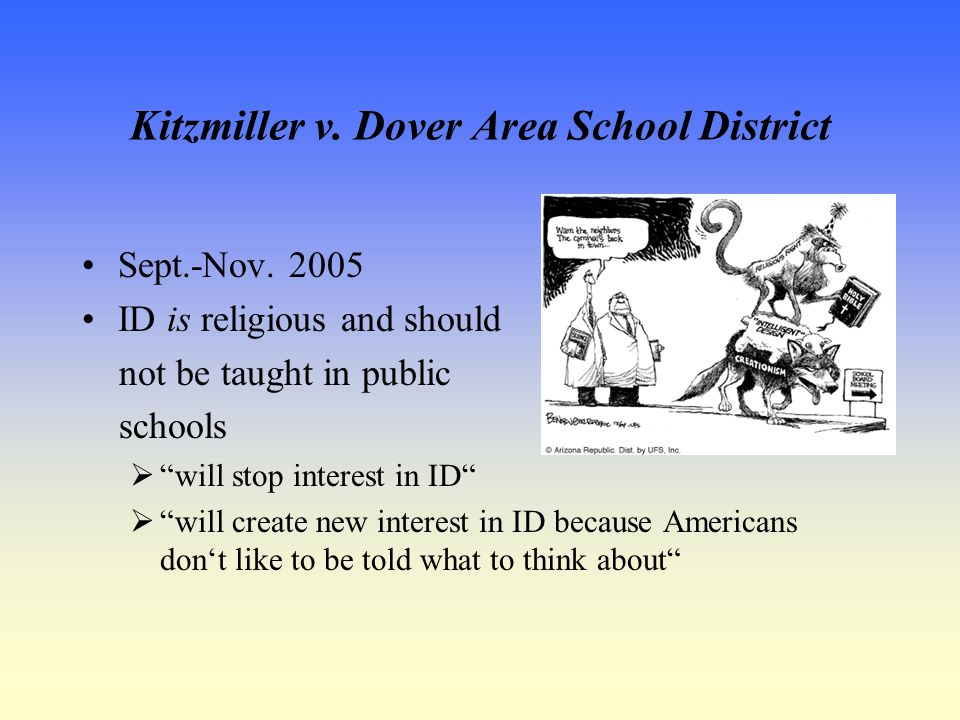 Kitzmiller v. Dover Area School District Sept.-Nov.