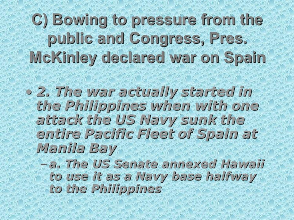 C) Bowing to pressure from the public and Congress, Pres.