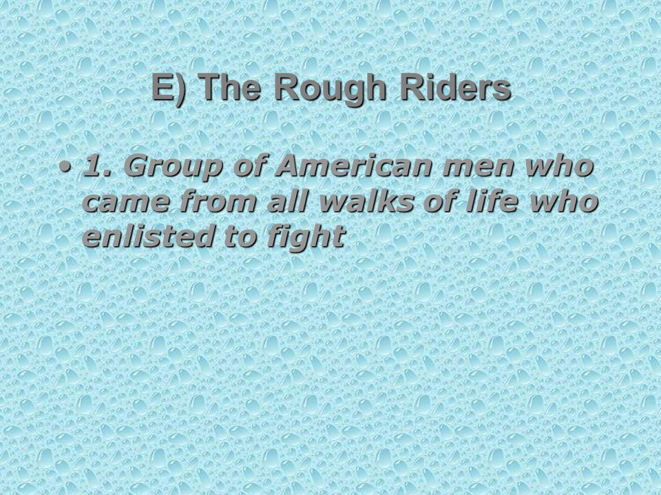 1. Group of American men who came from all walks of life who enlisted to fight1.
