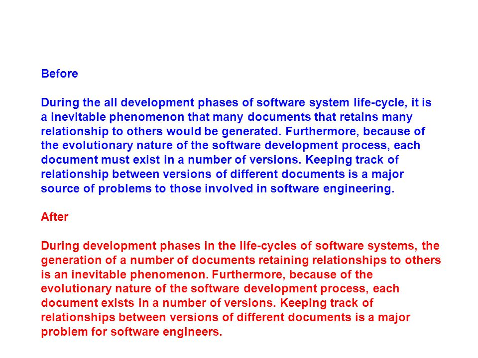 Before During the all development phases of software system life-cycle, it is a inevitable phenomenon that many documents that retains many relationsh