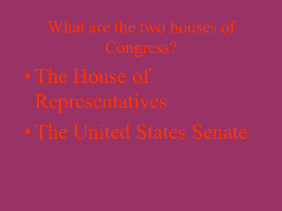 What is the name of the legislative branch of the federal government? Congress