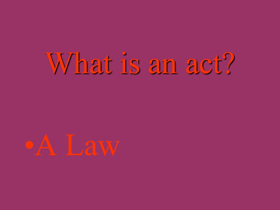 What is a bill? A proposed lawA proposed law