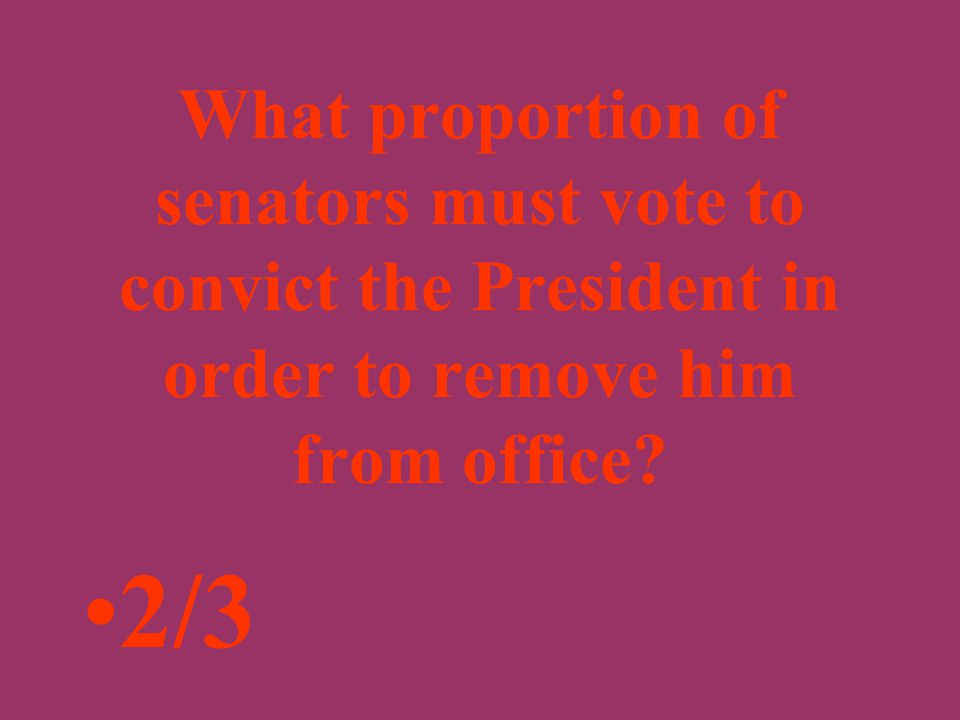 Under the Constitution, which house of Congress can remove the President from office? The Senate