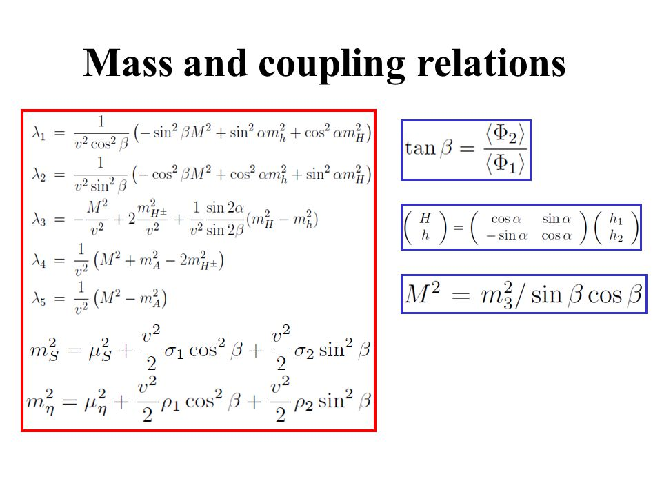 Mass and coupling relations