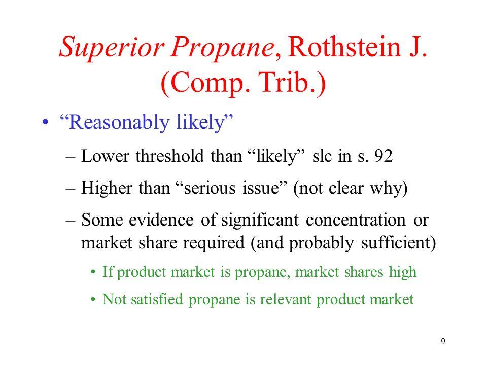 9 Superior Propane, Rothstein J. (Comp.