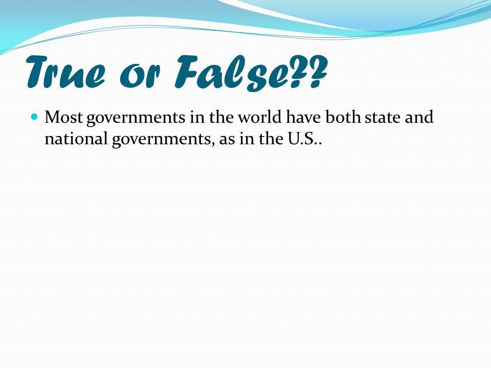 True or False?.