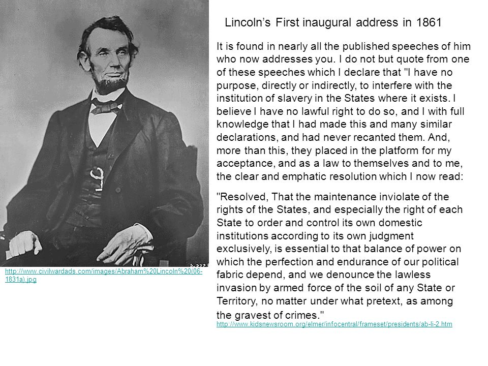 http://www.civilwardads.com/images/Abraham%20Lincoln%20(06- 1831a).jpg It is found in nearly all the published speeches of him who now addresses you.