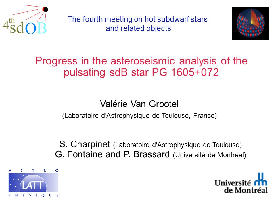 Progress in the asteroseismic analysis of the pulsating sdB star PG 1605+072 S.