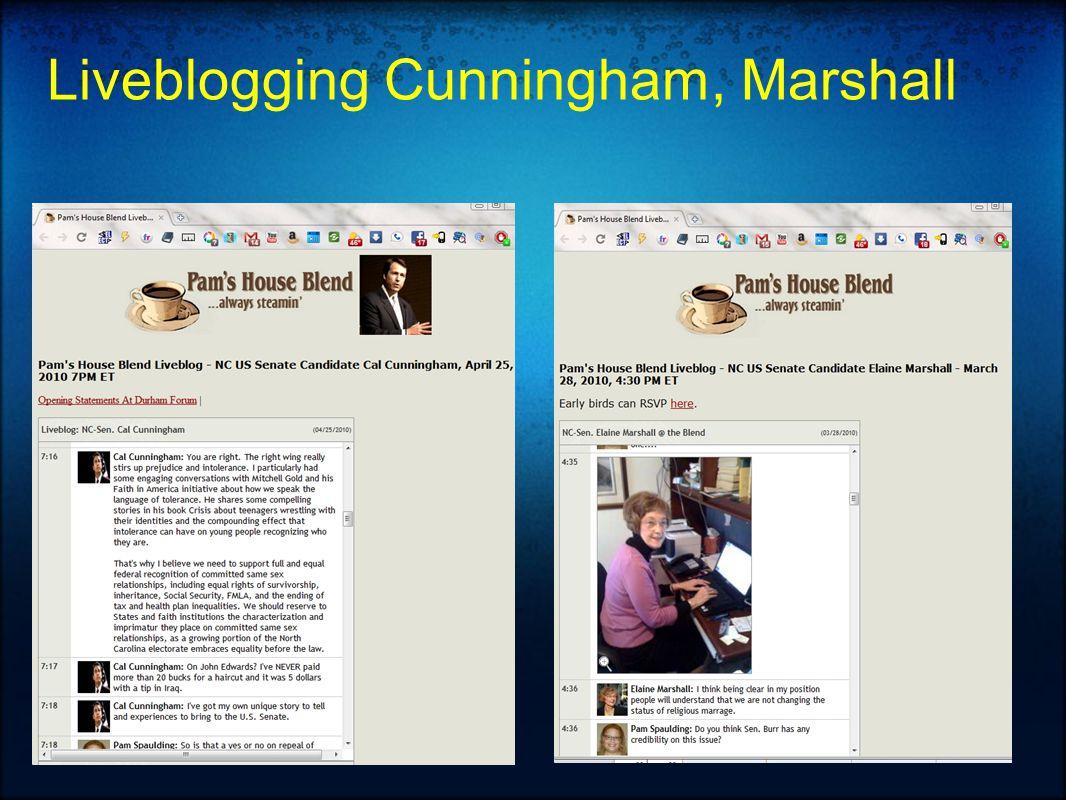Liveblogging Cunningham, Marshall
