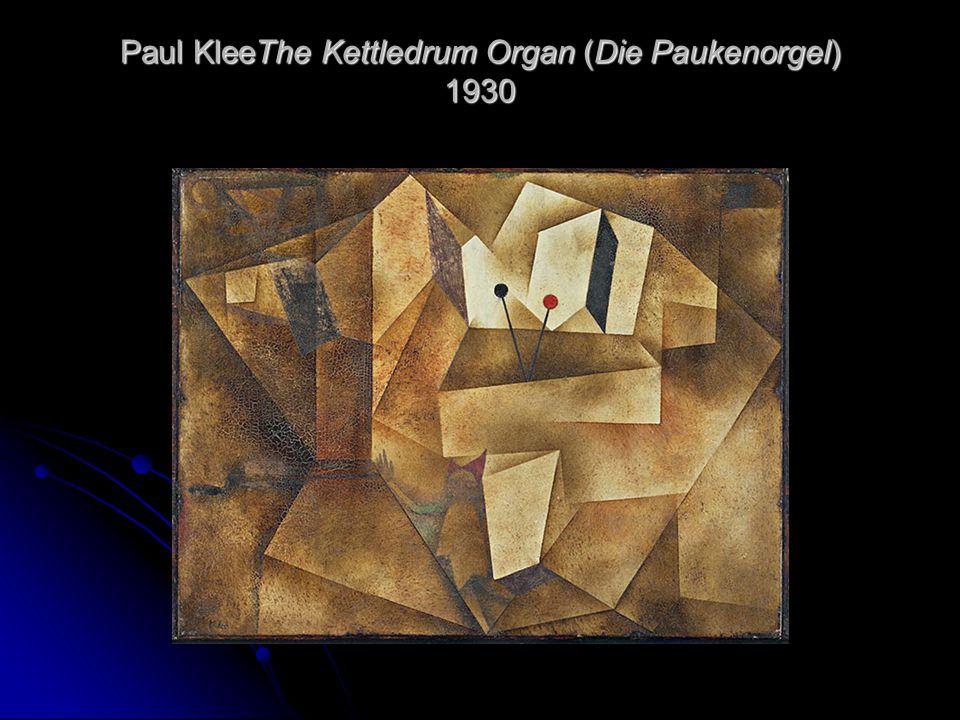 Paul KleeThe Kettledrum Organ (Die Paukenorgel) 1930